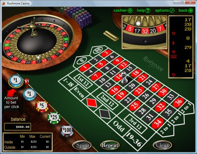 play roulette at Rushmore Casino